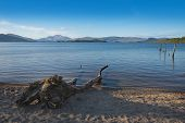Loch Lomond, Scotland, Tranquil Peaceful Evening On The Shores Of The Bonnie Banks poster