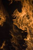 Abstract Flame Of Fire, Flame Of Fire Flame Texture For Banner Background, Conceptual Image Of Burni poster