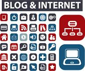 blog & internet buttons. vector