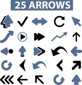 25 arrows icons, signs, vector