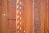 Old Zinc Rust Texture Background, Close Up To Pattern Texture Vertical Zinc Sheet. Abstract  Image O poster