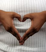 stock photo of hand heart  - hands in the shape of a heart - JPG