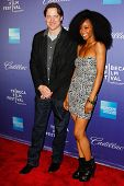 NEW  YORK - APRIL 21: Brendan Fraser and Yaya DaCosta attend the
