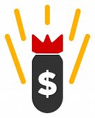 Raster Financial Crisis Bomb Flat Icon. Raster Pictograph Style Is A Flat Symbol Financial Crisis Bo poster