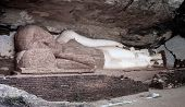 Sleeping Buddhism Statue At The Pidurangala Mountain. Sigiriya Sri Lanka. poster