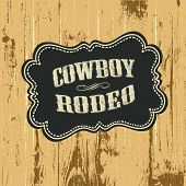 Grunge background with wild west styled label, raster version.