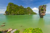 stock photo of james bond island  - Ko Tapu rock on James Bond Island - JPG