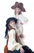 picture of niece  - Aunt and niece playing in pirate costumes - JPG
