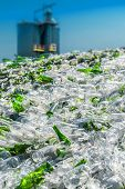 stock photo of reprocess  - Recovery Of Waste Glass Processing in Recycling Plant - JPG