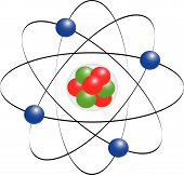 image of neutrons  - Protons neutrons electrons and electron orbits with atom core - JPG