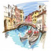 pic of gondolier  - 2 gondolas - JPG