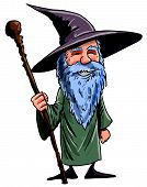 pic of warlock  - Friendly Cartoon Wizard With Staff - JPG