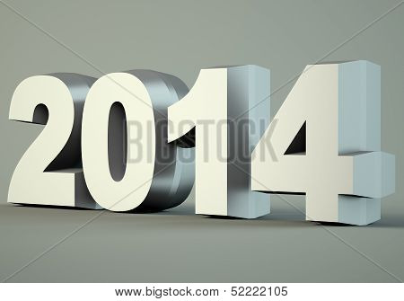 2014 New Year Digits poster