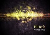 Abstract Grunge-Tech-Vektor-design