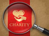 stock photo of glass heart  - Charity Concept - JPG