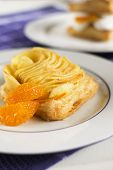 Delicious puff pastry with apple