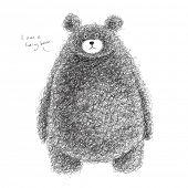 stock photo of hairy  - Vector Hairy Bear - JPG
