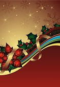 stock photo of card christmas  - Illustration of Red Christmas Abstract Curve Background - JPG