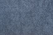 Gray-blue Terry Cotton Fabric Closeup