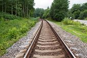 stock photo of railroad car  - railroad trains and tracks to take pictures in different seasons - JPG
