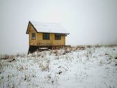 Snowy Wooden Cottage Argentina