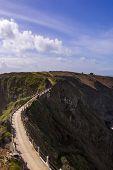 foto of sark  - La Coupee on Sark channel islands UK - JPG