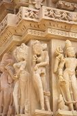 picture of kandariya mahadeva temple  - Apsara naked ladies sculpture on Kandariya Mahadeva Temple at Khajuraho in India Asia - JPG