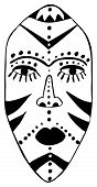 foto of african mask  - stylized african tribal mask with traditional motives - JPG