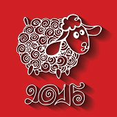 pic of sheep  - Greeting card - JPG