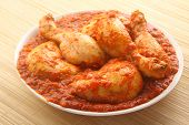 picture of kadai  - Chicken curry served in bowl - JPG