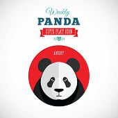 picture of panda  - Weekly Panda Cute Flat Animal Icon  - JPG