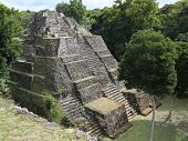 image of mayan  - Ruins of the Mayan city of Yaxha in Guatemala - JPG