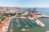 pic of marina  - Port and marina on Tagus River in Lisbon Portugal