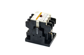 foto of contactor  - Magnetic contactors for electricity with white background - JPG