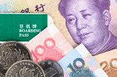 picture of yuan  - Chinese or Yuan banknotes money and coins from China - JPG