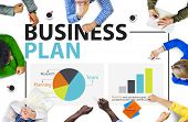 stock photo of seminars  - Business Plan Planning Strategy Meeting Conference Seminar Concept - JPG