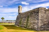 Постер, плакат: St Augustine Florida at the Castillo de San Marcos National Monument