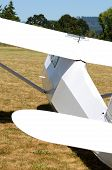 pic of glider  - Sailplane or glider being flown in the valley near Portland Oregon - JPG