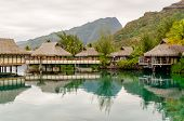 foto of french polynesia  - Overwater Bungalows in Moorea French Polynesia, 2012 ** Note: Soft Focus at 100%, best at smaller sizes - JPG