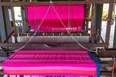 pic of loom  - Traditional loom or weaving apparatus in local of Thailand - JPG