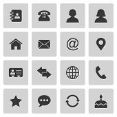 image of transfer  - Contact icons set isolated on gray - JPG
