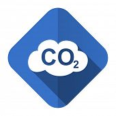 foto of carbon-dioxide  - carbon dioxide flat icon co2 sign  - JPG