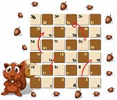 image of chipmunks  - Illustration of a boardgame with chipmunk - JPG
