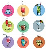 picture of cocktail menu  - Vector Collection of Cocktails and Hot Drinks - JPG