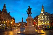 foto of freedom tower  - Liberty or Freedom Square with monument of King Peter IV in Porto city hall - JPG