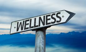 pic of physical education  - Wellness sign with sky background - JPG