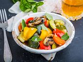 image of stew  - vegetable stew with fresh vegetables ratatouille - JPG