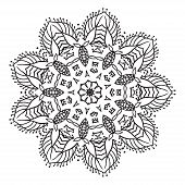 foto of rangoli  - Hand drawing zentangle element - JPG