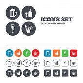 pic of sparkling wine  - Alcoholic drinks icons - JPG