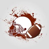picture of football helmet  - American Football Background with helmet and ball - JPG